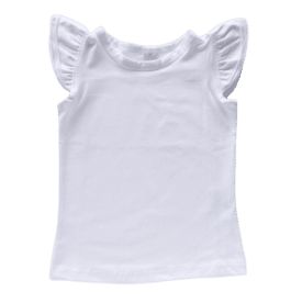 White Sleeveless Flutter Top Product Image