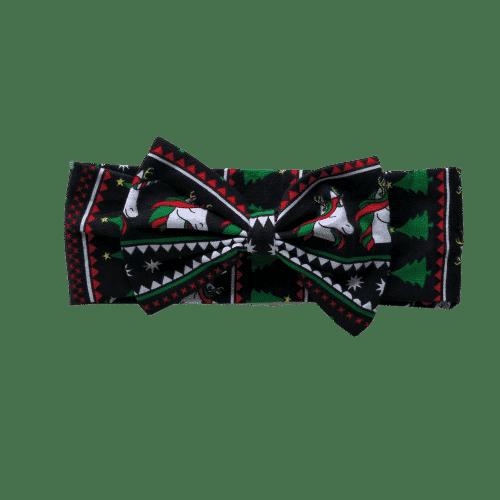 Black Unicorn Christmas Stretchy Headband