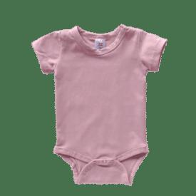 Dusty Pink Short Sleeve Bodysuit