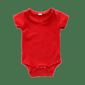 red basic bodysuit onesie