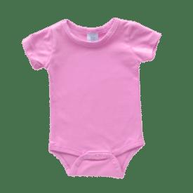 bubblegum pink short sleeve bodysuit