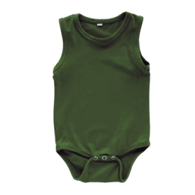 Army Green Sleeveless Bodysuit