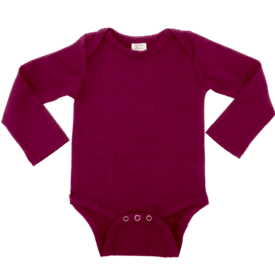 Berry Long Sleeve Envelope Bodysuit