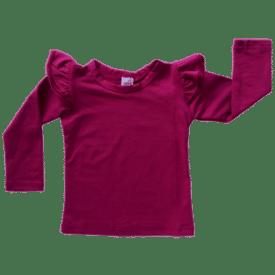 Berry Long Sleeve Winter Fluttertop