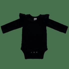 Black Longsleeve Fluttersuit / Onesie