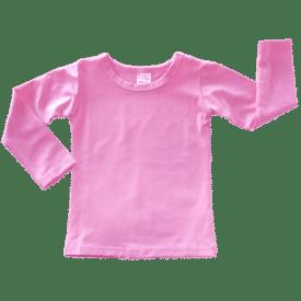 Bubblegum Pink Long Sleeve Basic Top