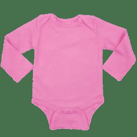 Bubblegum Pink Long Sleeve Envelope Bodysuit