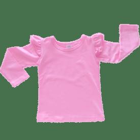 Bubblegum Pink Long Sleeve Winter Fluttertop