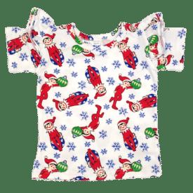 Christmas Elf Short Sleeve Flutter Tee
