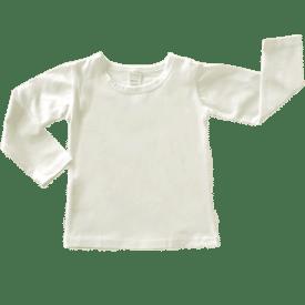 Cream Long Sleeve Basic Top