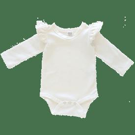 cream-Long Sleeve fluttesuit