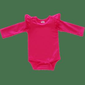 Dark Pink Longsleeve Fluttersuit / Onesie