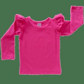 Dark Pink Long Sleeve Winter Fluttertop