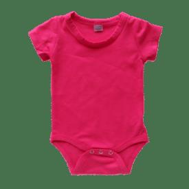 Dark Pink Short-Sleeve Bodysuit