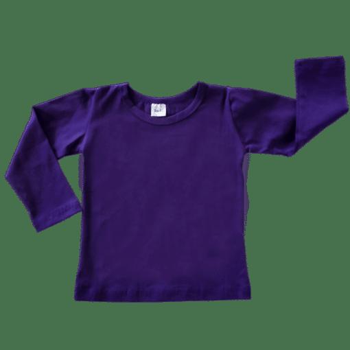 Dark Purple Long Sleeve Basic Top