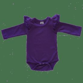 Dark Purple Longsleeve Fluttersuit / Onesie