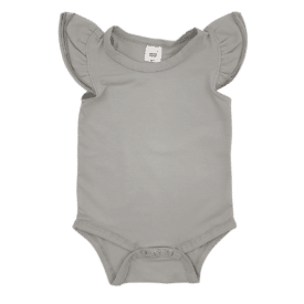 Dove Grey Sleeveless Fluttersuit