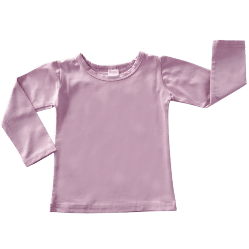Dusty Pink Long Sleeve Basic Top