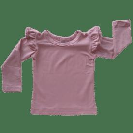 Dusty Pink Long Sleeve Winter Fluttertop