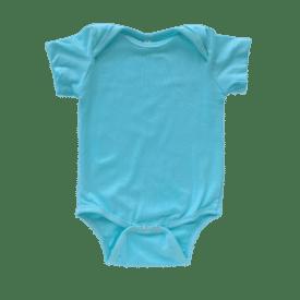light blue Lap Neck short sleeve bodysuit
