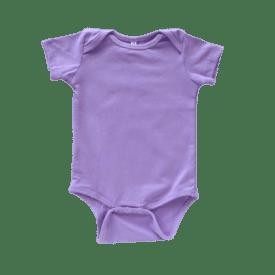 Lavender Lap Neck short sleeve bodysuit