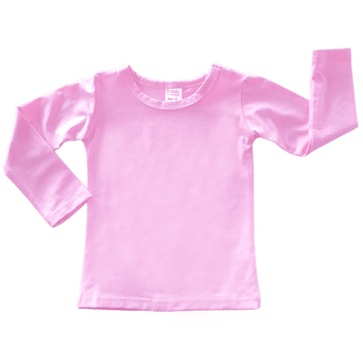 Baby Pink Long Sleeve Basic Top