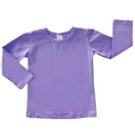 Lavemder Long Sleeve Basic Top