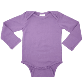 Lavender Long Sleeve Envelope Bodysuit