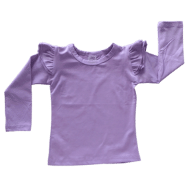 Lavender Long Sleeve Winter Fluttertop