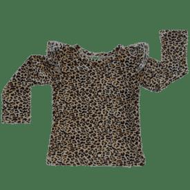 Leopard Print Long Sleeve Winter Fluttertop