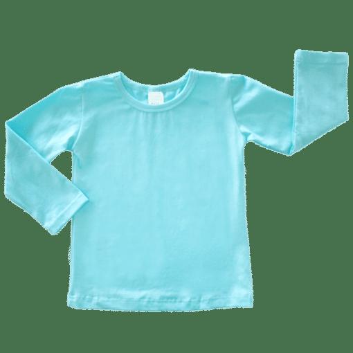 Light Blue Long Sleeve Basic Top