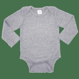 Light Frosted Grey Long Sleeve Envelope Bodysuit