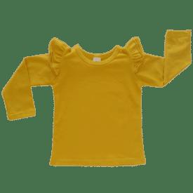 Mustard Long Sleeve Winter Fluttertop