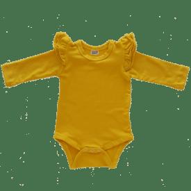 Mustard Longsleeve Fluttersuit / Onesie