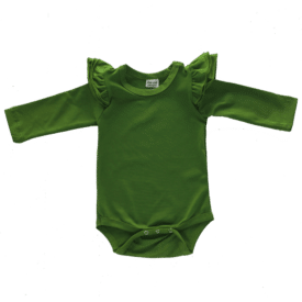 Olive Green Longsleeve Fluttersuit / Onesie