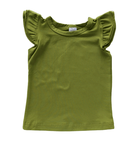 Blankish - Everyone will fall in love with this super-soft, super-cute, and (really) super-affordable Basic Flutter Top's. Made with our signature stretch cotton blend and designed for maximum comfort, it really is the perfect garment for your little one to wear. They have 3 fluttery ruffles on each shoulder, too! All our Basics are blank, so that you can print your own designs or leave them as they are to really show off your handmade outfits. Designed with love by us in Australia.