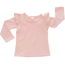Peach Long Sleeve Winter Fluttertop