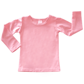 Peachy Pink Long Sleeve Basic Top