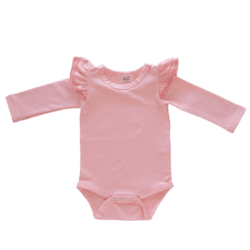 baby-pink-Long Sleeve fluttesuit