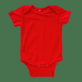 Red Short Sleeve Envelope Onesie