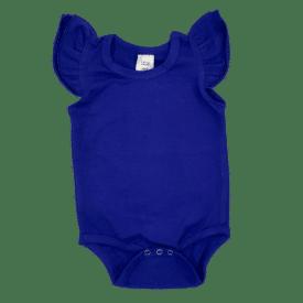 Royal-Blue Sleeveless Fluttersuit