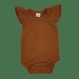 Saddle Brown Sleeveless Fluttersuit