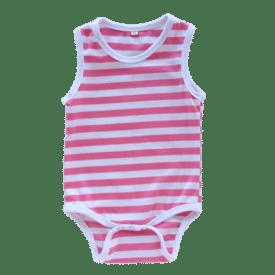 Striped Pink Sleeveless bodysuit