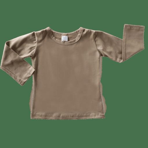 Tan Long Sleeve Basic Top