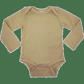 Tan Long Sleeve Envelope Bodysuit