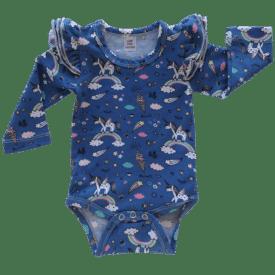 Unicorn Long Sleeve flutter onesie Bodysuit wholesale1