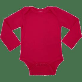 Dak Pink Long Sleeve Envelope Bodysuit