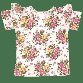 Vintage Blossom Short Sleeve Flutte Tee