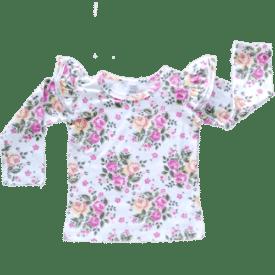Vintage Blossom Long Sleeve Winter Fluttertop