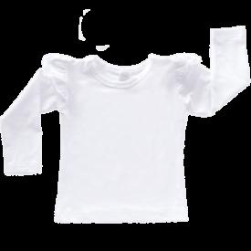 White Long Sleeve Winter Fluttertop